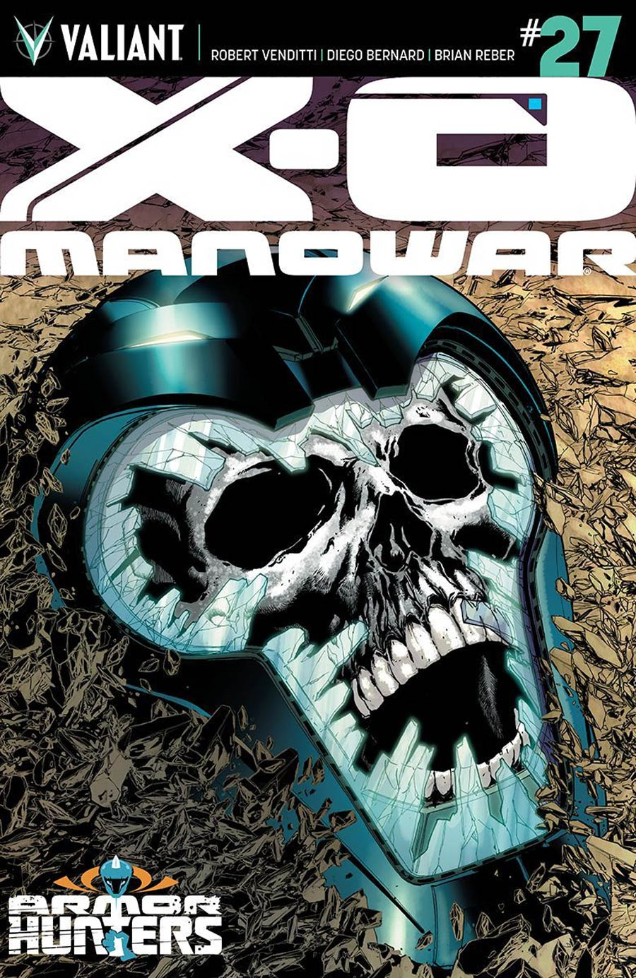 X-O Manowar Vol 3 #27 Cover A Regular Miguel Sepulveda Cover (Armor Hunters Tie-In)