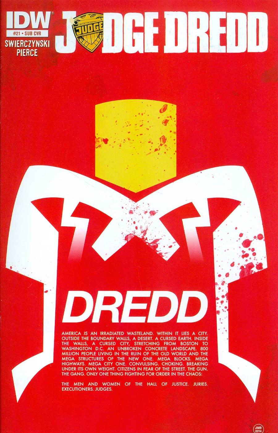 Judge Dredd Vol 4 #21 Cover B Variant James Biggie Subscription Cover