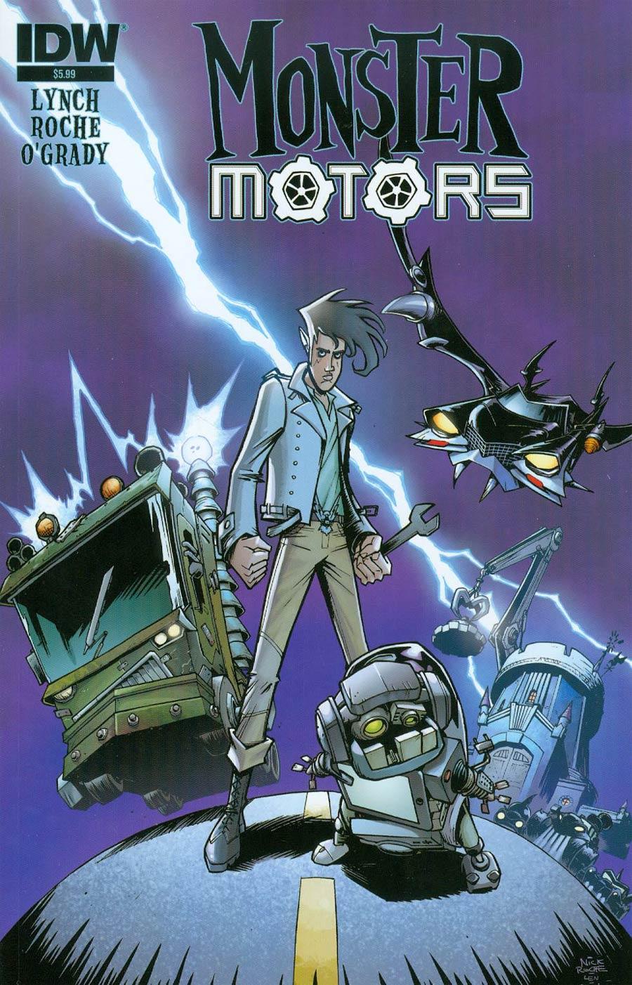 Monster Motors One Shot Cover A Regular Nick Roche Cover