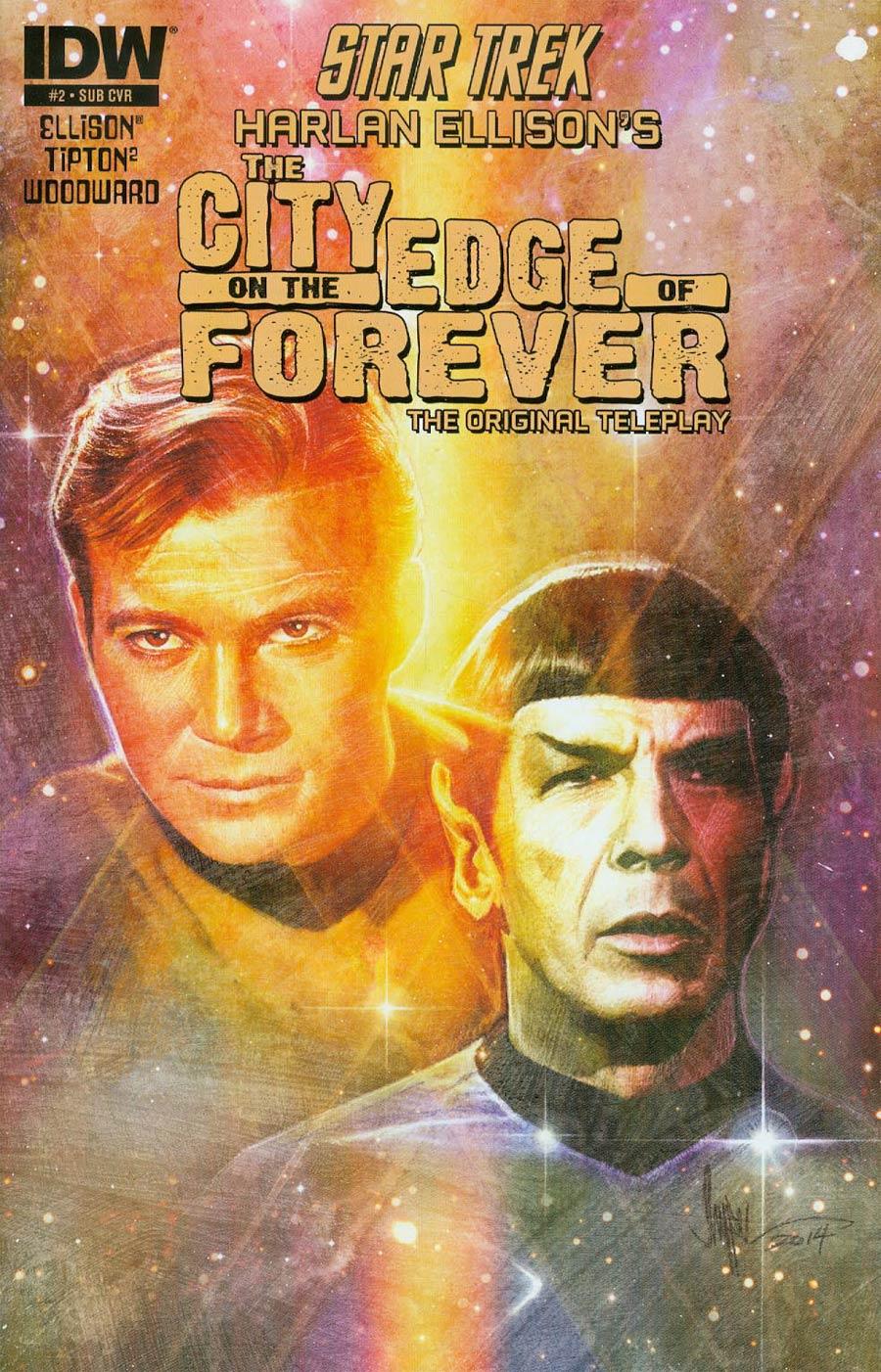 Star Trek Harlan Ellisons City On The Edge Of Forever Original Teleplay #2 Cover B Variant Paul Shipper Subscription Cover