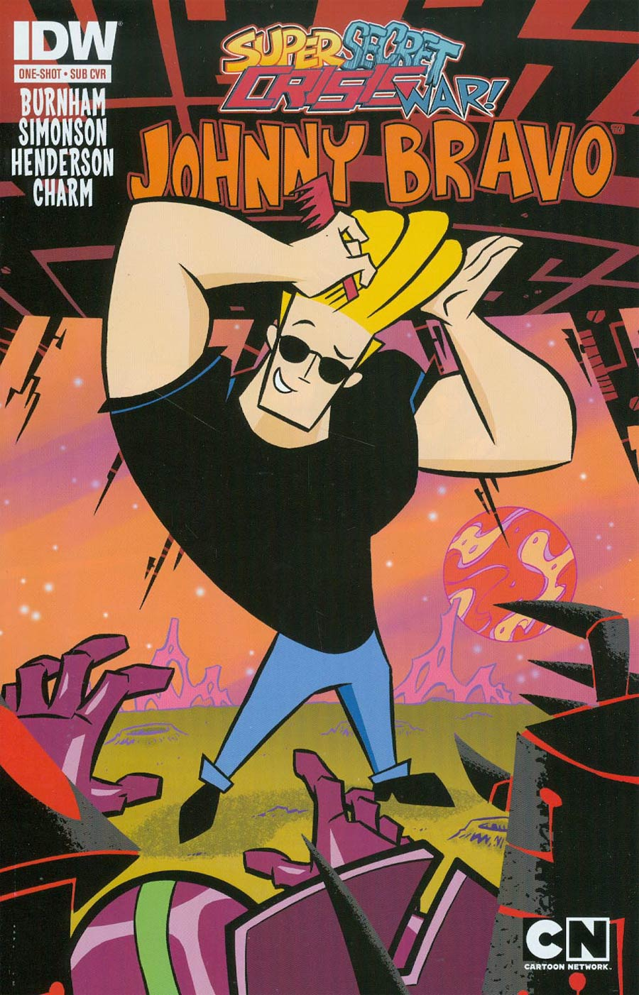 Super Secret Crisis War Johnny Bravo #1 Cover B Variant Ethan Beavers Subscription Cover