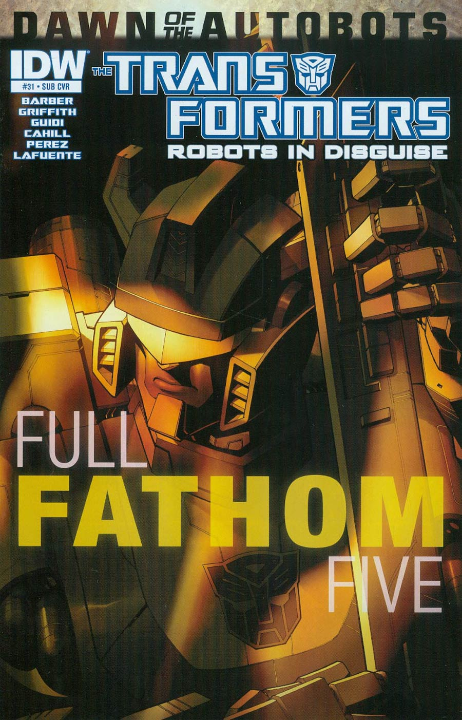 Transformers Robots In Disguise #31 Cover B Variant Casey W Coller Subscription Cover (Dawn Of The Autobots Tie-In)