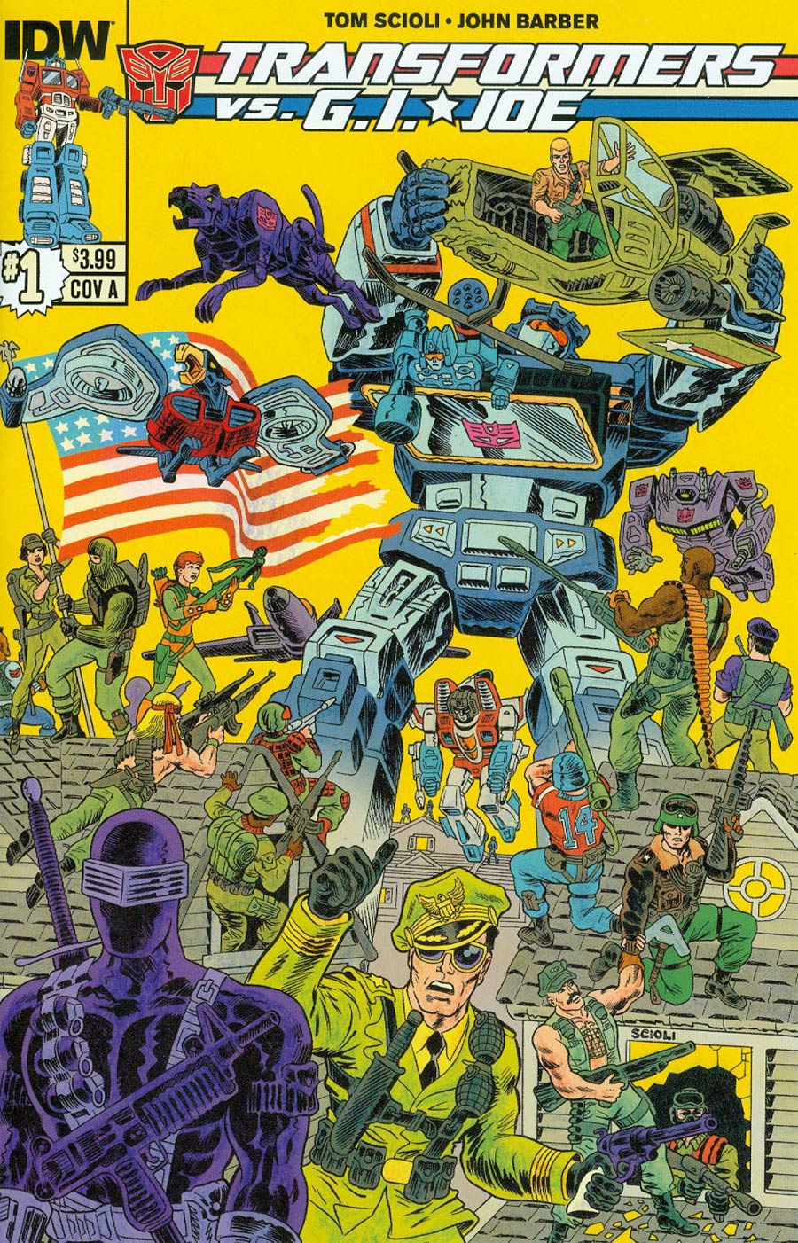 Transformers vs GI Joe #1 Cover A 1st Ptg Regular Tom Scioli Cover