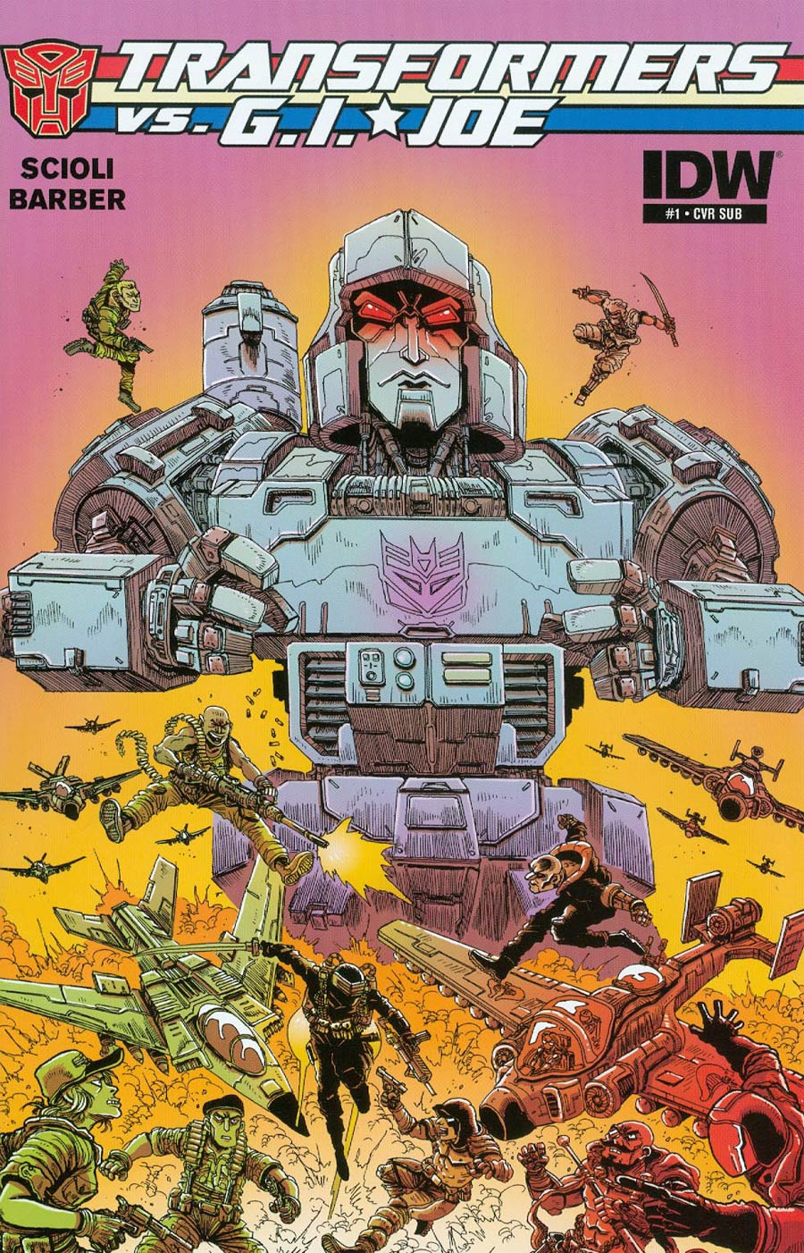Transformers vs GI Joe #1 Cover C Variant James Stokoe Subscription Cover