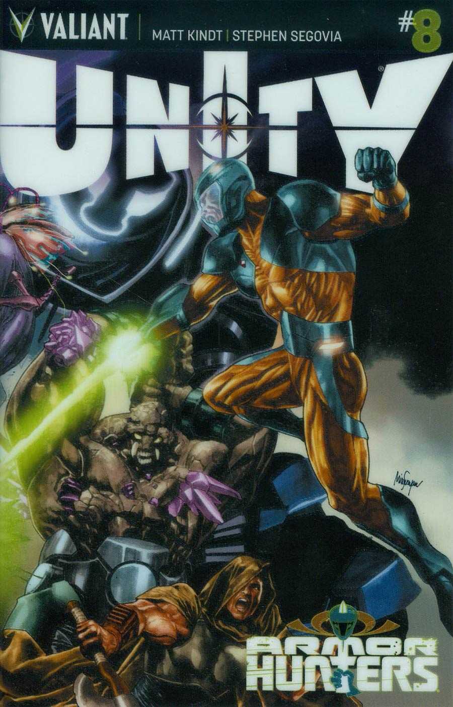 Unity Vol 2 #8 Cover B Variant Mico Suayan Chromium Cover (Armor Hunters Tie-In)