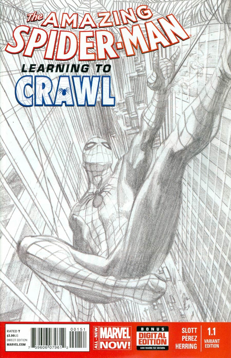 Amazing Spider-Man Vol 3 #1.1 Cover E Incentive Alex Ross Sketch Cover
