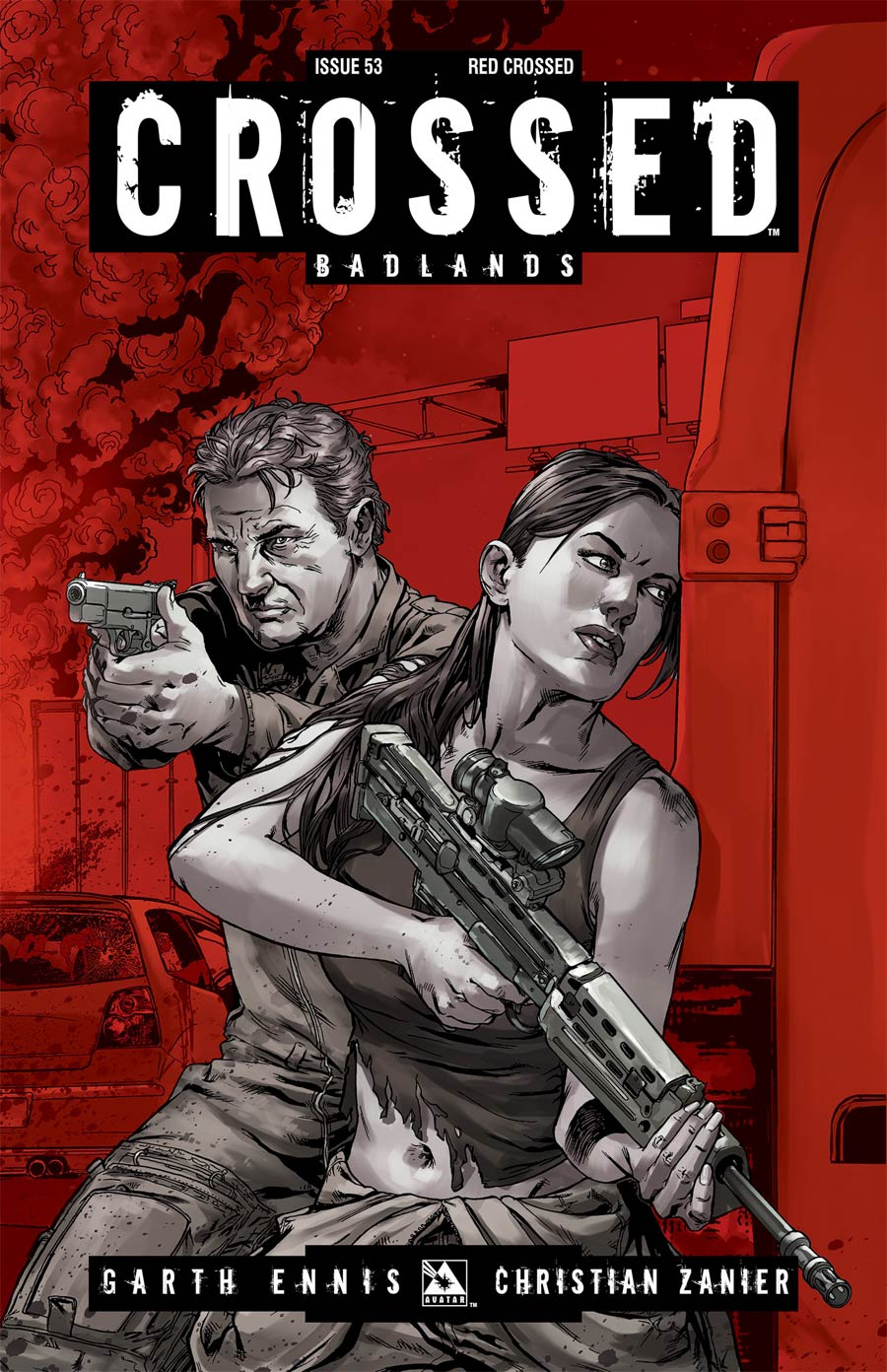 Crossed Badlands #53 Cover E Incentive Red Crossed Edition