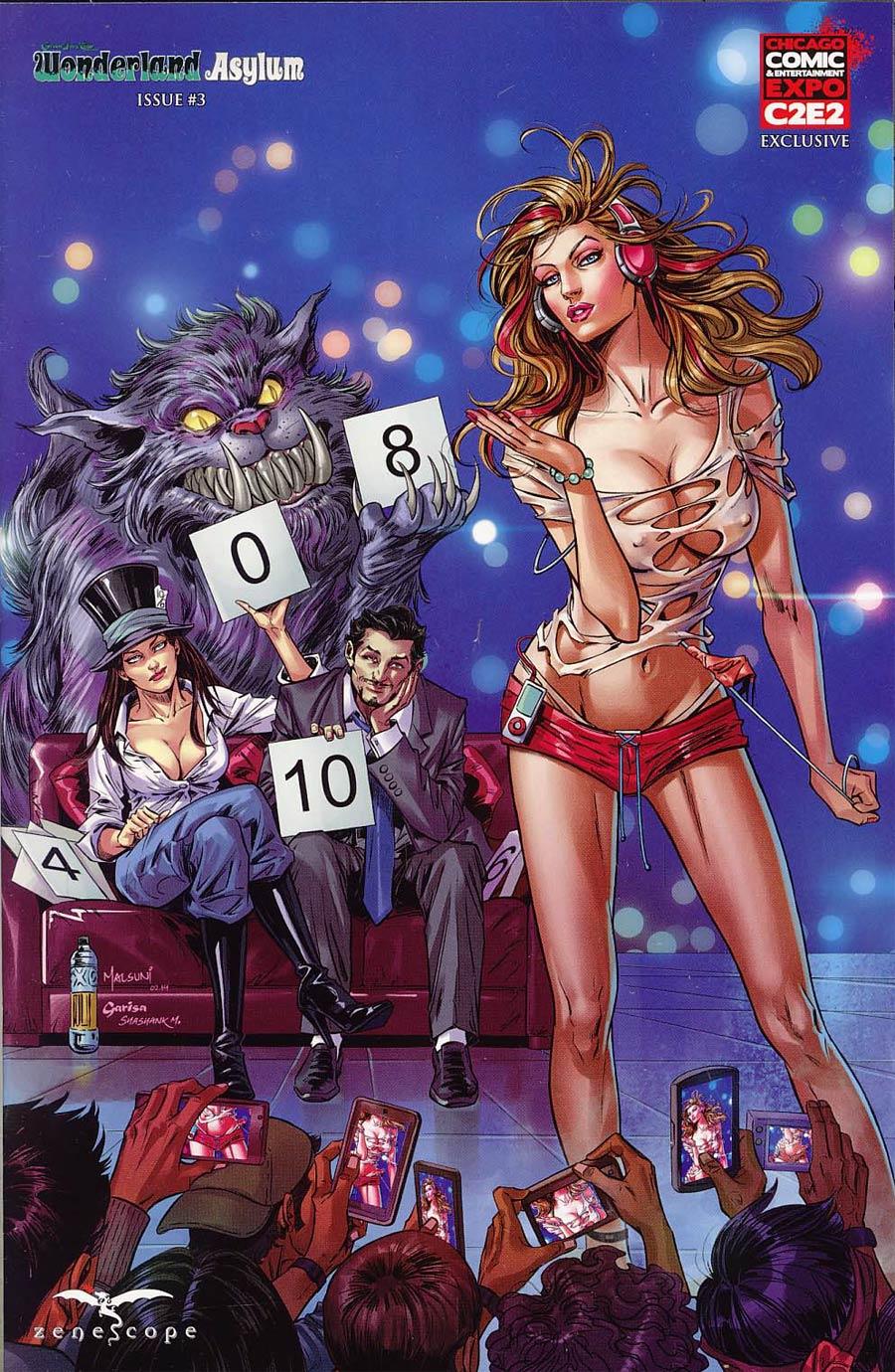 Grimm Fairy Tales Presents Wonderland Asylum #3 Cover D C2E2 Exclusive Abhishek Malsuni Variant Cover