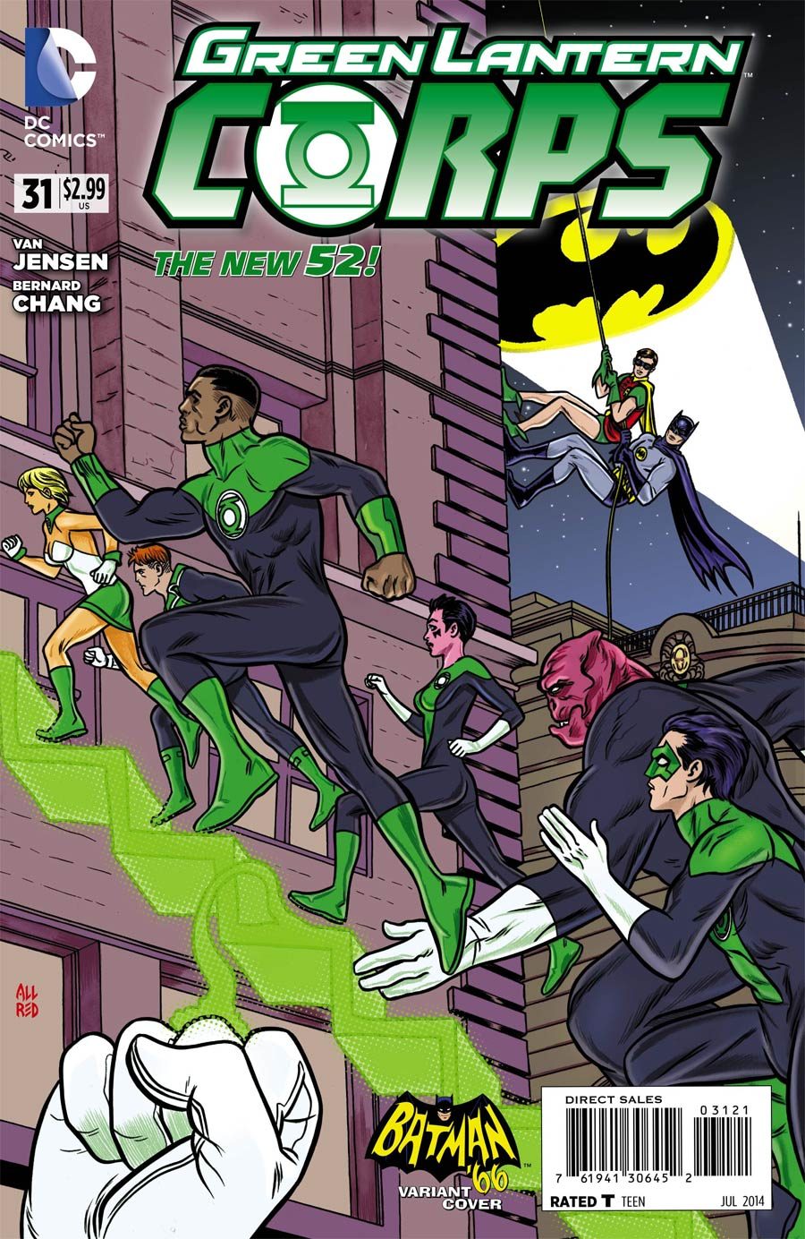 Green Lantern Corps Vol 3 #31 Cover B Incentive Mike Allred Batman 66 Variant Cover (Uprising Part 2)