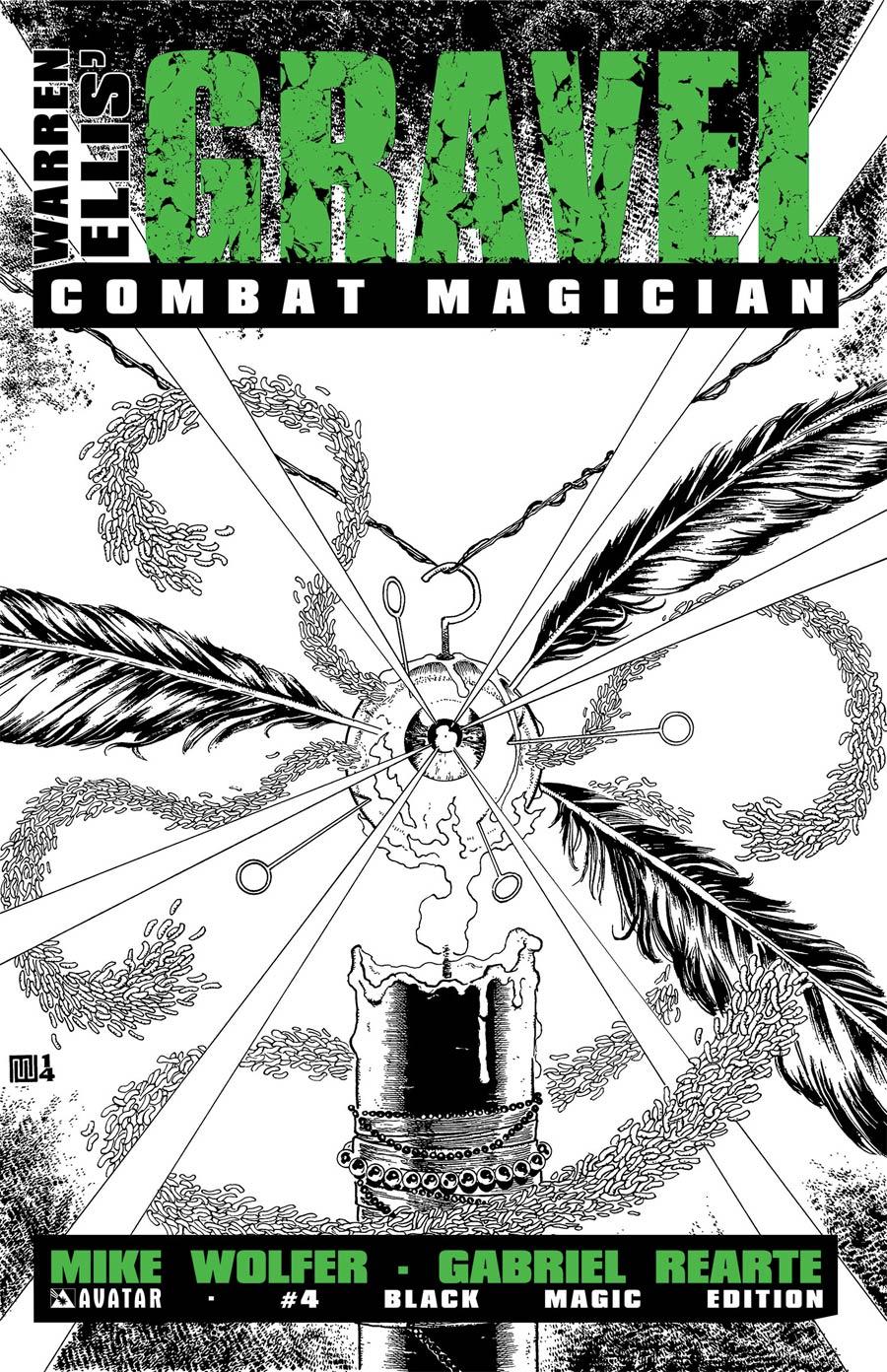 Gravel Combat Magician #4 Cover D Incentive Black Magic Cover