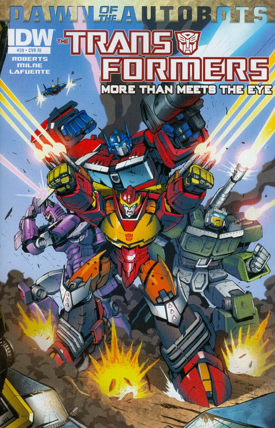 Transformers More Than Meets The Eye #29 Cover C Marcelo Matere Connecting Variant Cover (Dawn Of The Autobots Tie-In)