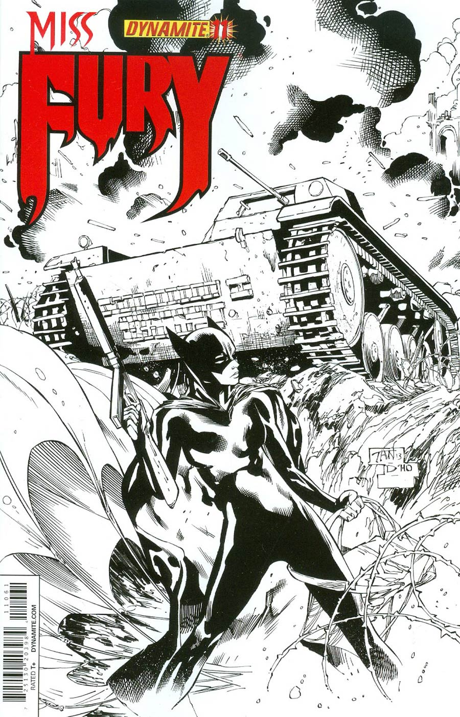 Miss Fury Vol 2 #11 Cover F Incentive Billy Tan Black & White Cover