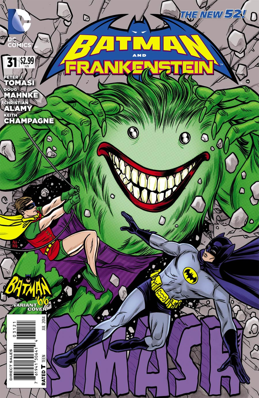 Batman And Frankenstein #31 Cover B Incentive Mike Allred Batman 66 Variant Cover