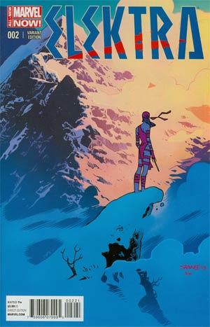 Elektra Vol 3 #2 Cover B Incentive Chris Samnee Variant Cover