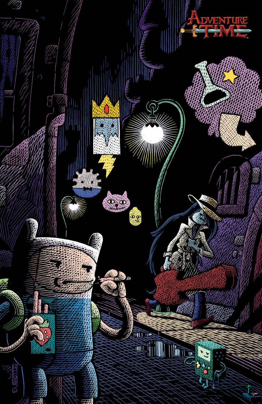 Adventure Time #28 Cover C Incentive James Lloyd Virgin Variant Cover