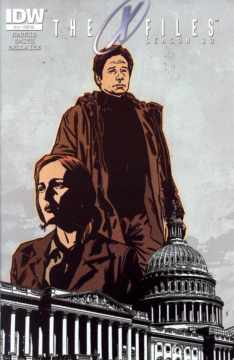 X-Files Season 10 #11 Cover C Incentive Matthew Dow Smith Variant Cover