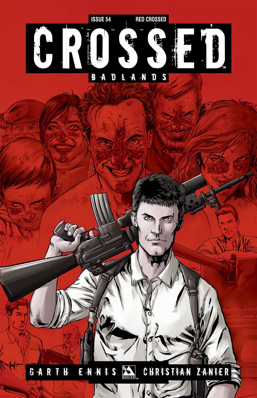 Crossed Badlands #54 Cover E Incentive Red Crossed Edition