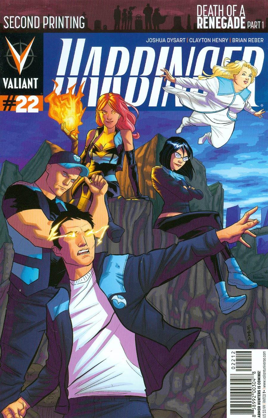 Harbinger Vol 2 #22 Cover D 2nd Ptg Michael Walsh Variant Cover