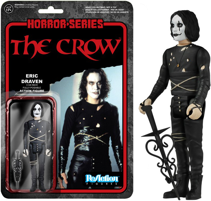 ReAction Horror The Crow Eric Draven 4-Inch Action Figure