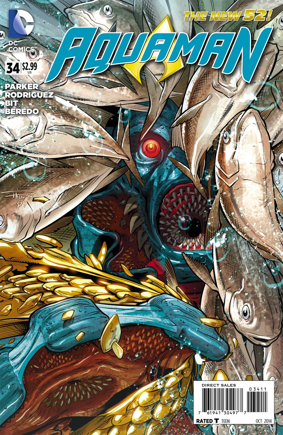 Aquaman Vol 5 #34 Cover A Regular Paul Pelletier Cover