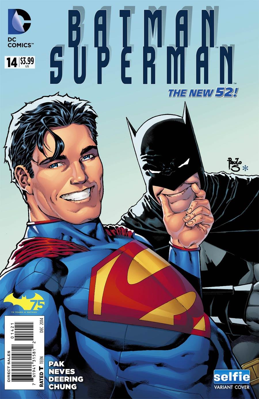Batman Superman #14 Cover B Variant DC Universe Selfie Cover