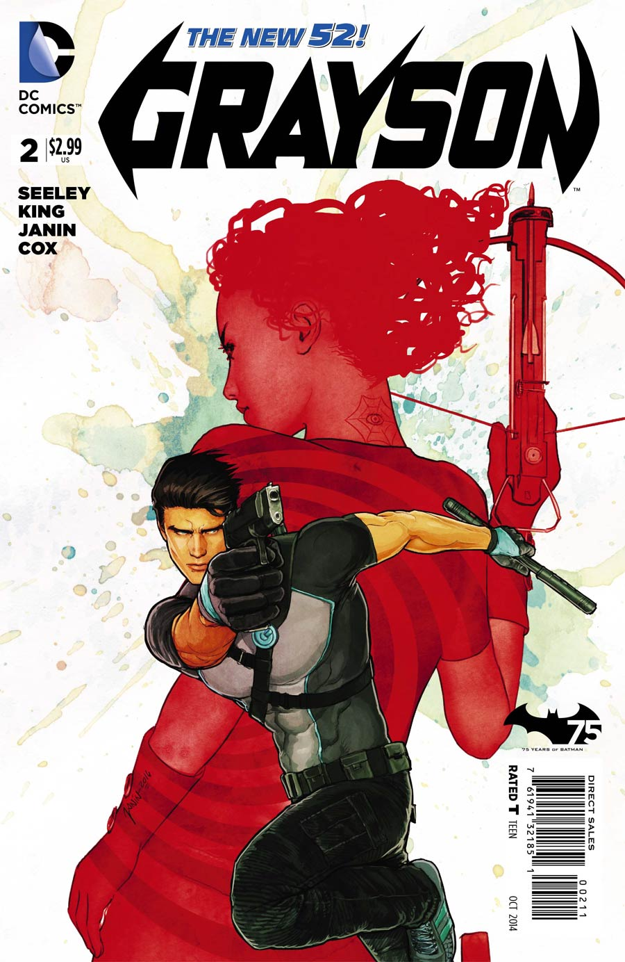 Grayson #2 Cover A Regular Mikel Janin Cover