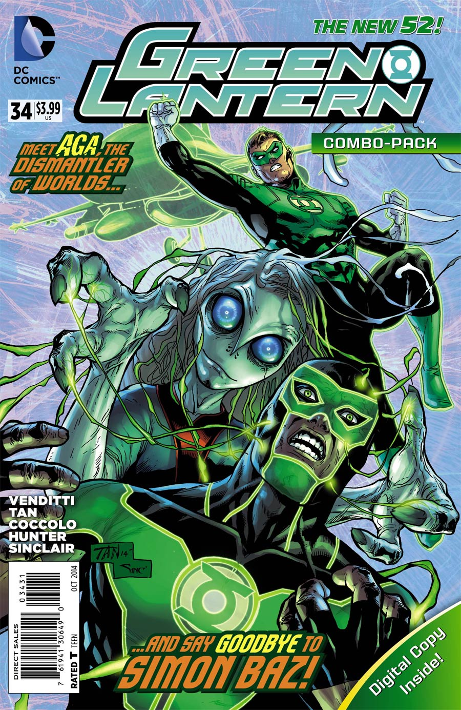 Green Lantern Vol 5 #34 Cover C Combo Pack With Polybag