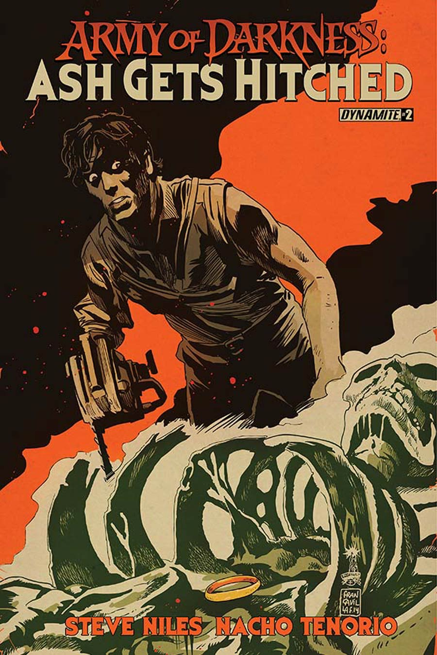 Army Of Darkness Ash Gets Hitched #2 Cover B Variant Francesco Francavilla Cover