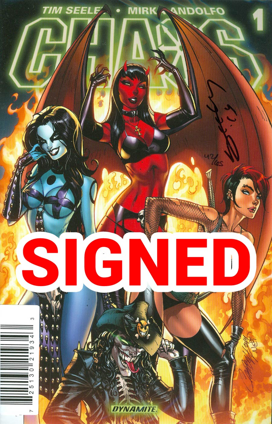Chaos #1 Cover P 1st Ptg Signed By Tim Seeley