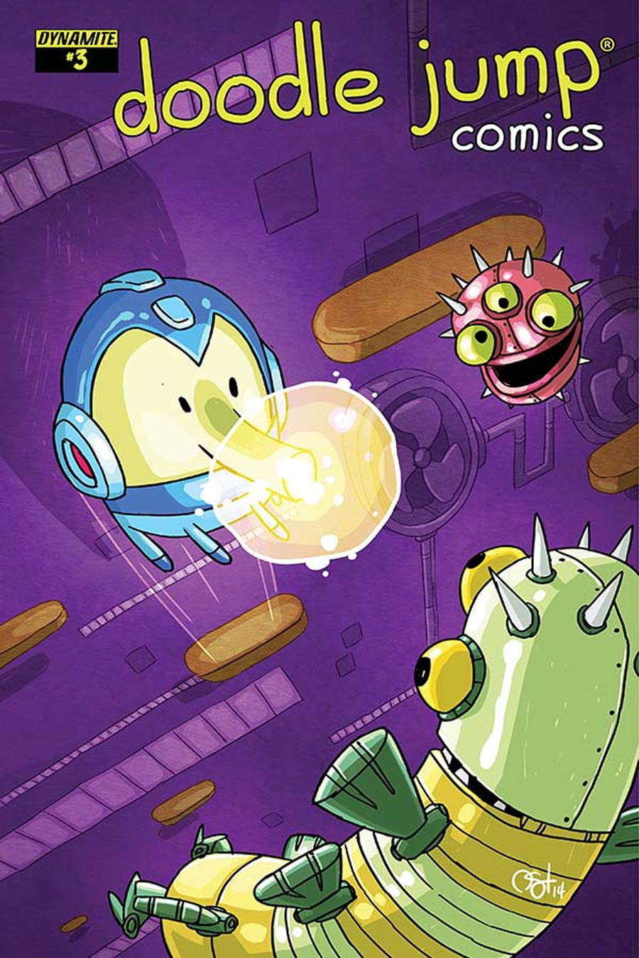 Doodle Jump #3 Cover B Variant Video Game Homage Cover