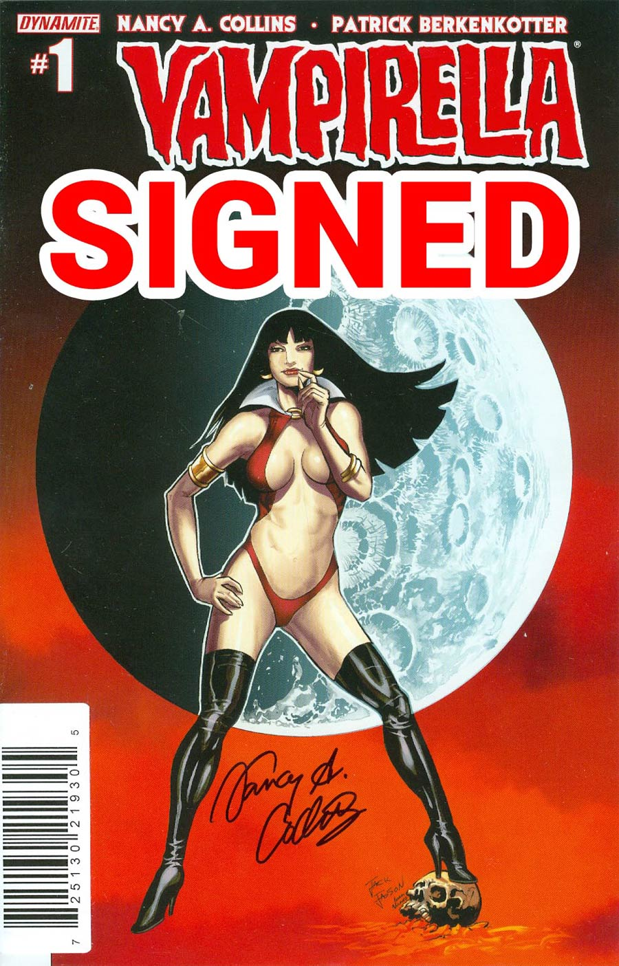 Vampirella Vol 5 #1 Cover R Variant Jack Jadson Homage Cover Signed By Nancy A Collins