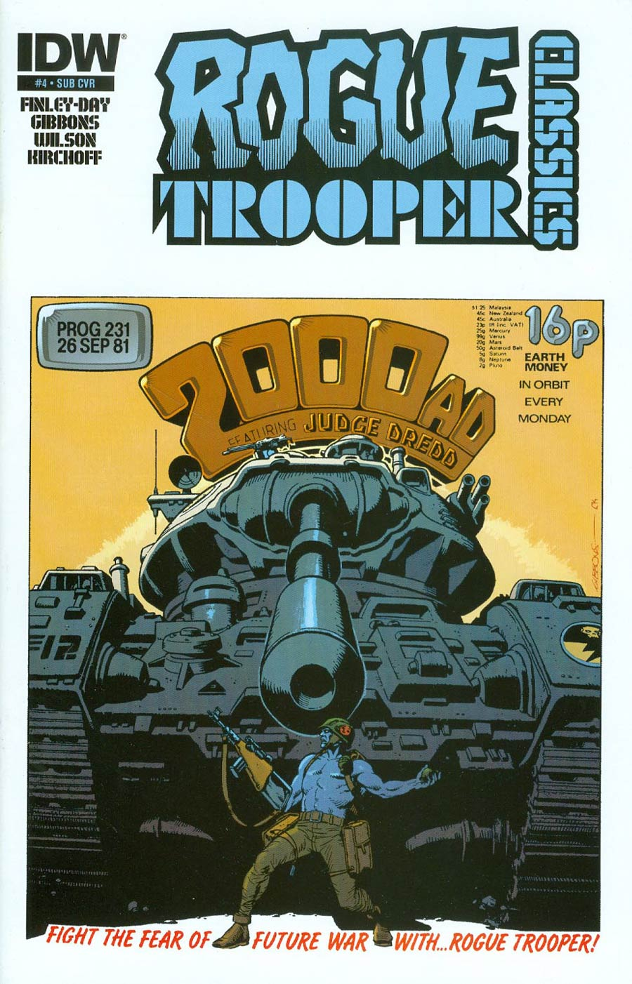 Rogue Trooper Classics #4 Cover B Variant Dave Gibbons Subscription Cover