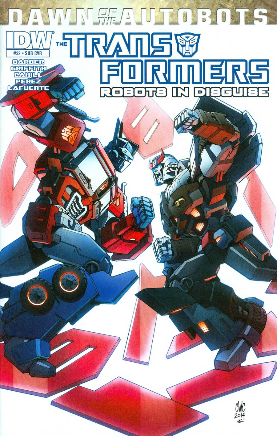 Transformers Robots In Disguise #32 Cover B Variant Casey W Coller Subscription Cover (Dawn Of The Autobots Tie-In)