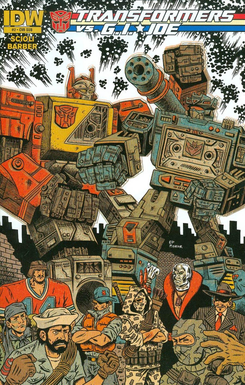 Transformers vs GI Joe #2 Cover B Variant Ed Piskor Subscription Cover
