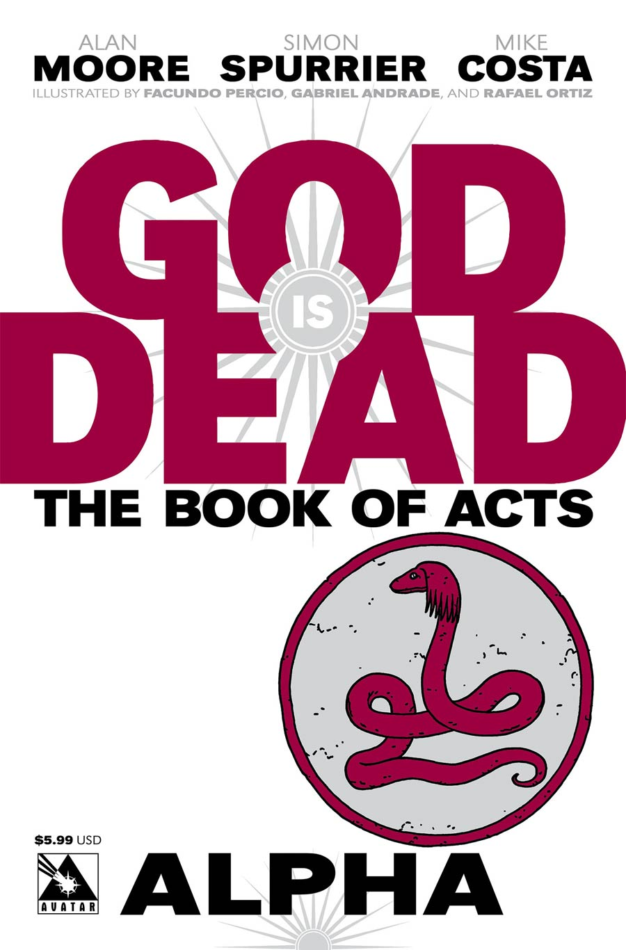 God Is Dead Book Of Acts Alpha Cover A Regular Cover