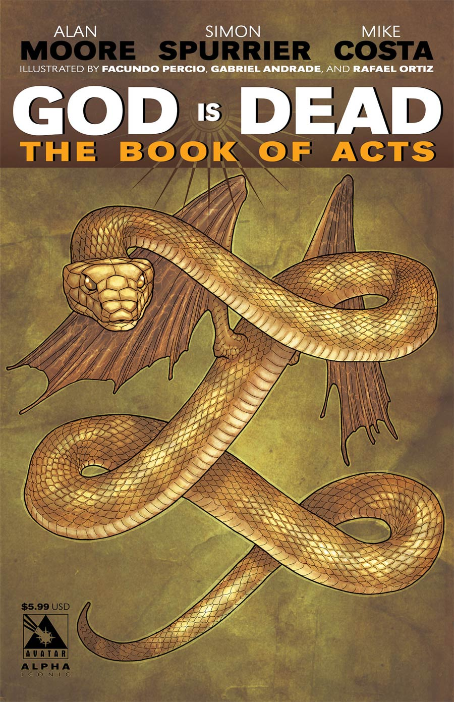 God Is Dead Book Of Acts Alpha Cover D Iconic Cover