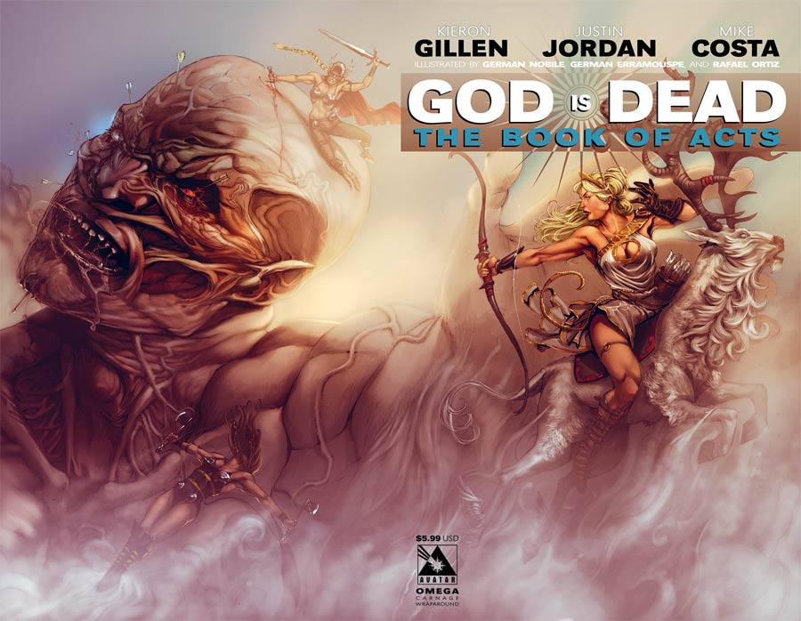 God Is Dead Book Of Acts Omega Cover B Carnage Wraparound Cover