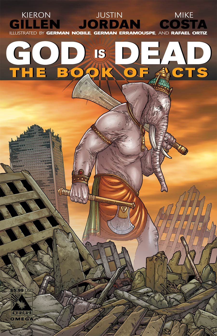 God Is Dead Book Of Acts Omega Cover C End Of Days Cover