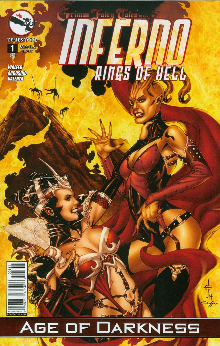 Grimm Fairy Tales Presents Inferno Rings Of Hell #1 Cover A Drew Edward Johnson (Age Of Darkness Tie-In)