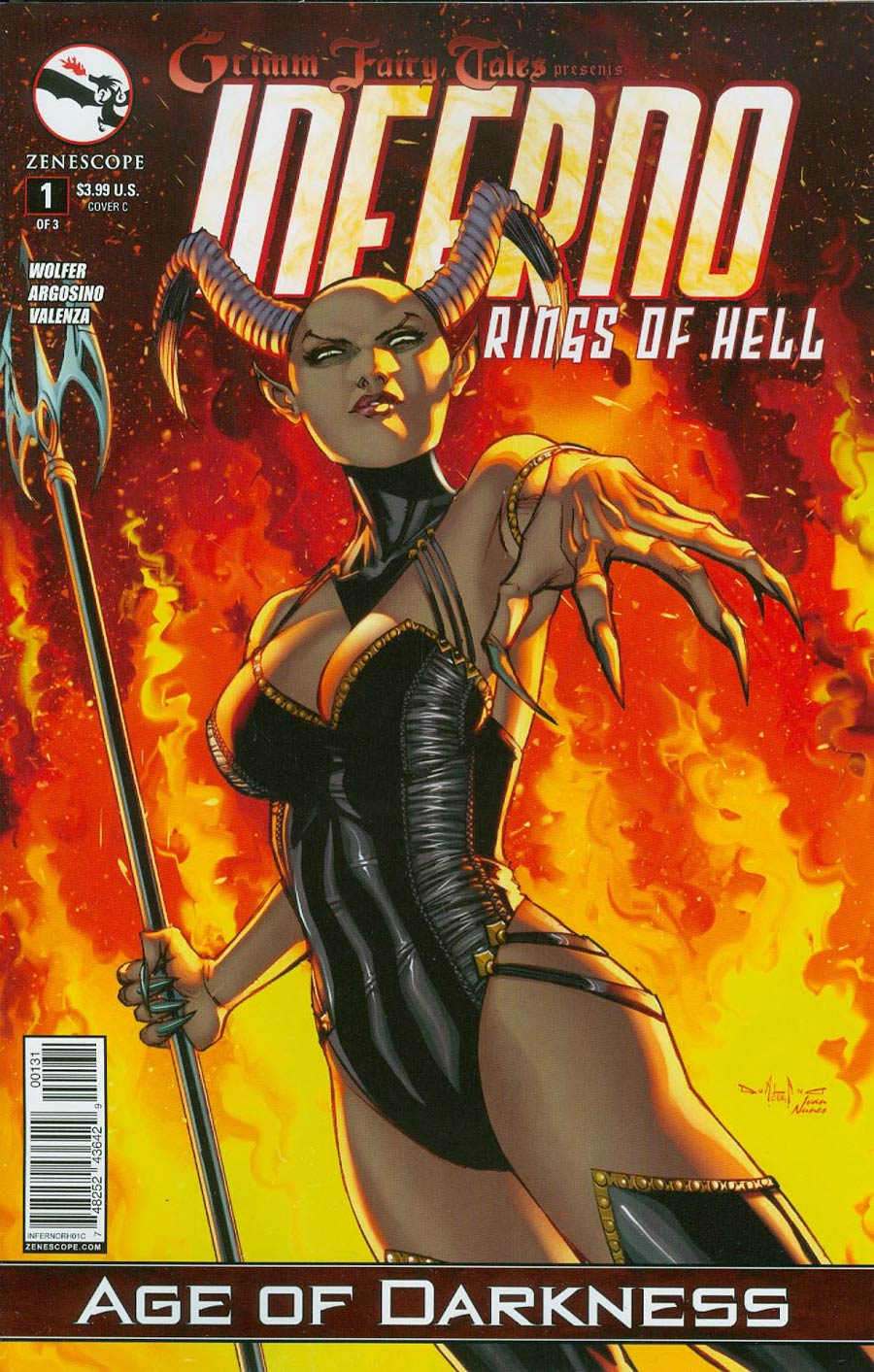 Grimm Fairy Tales Presents Inferno Rings Of Hell #1 Cover C Pasquale Qualano (Age Of Darkness Tie-In)