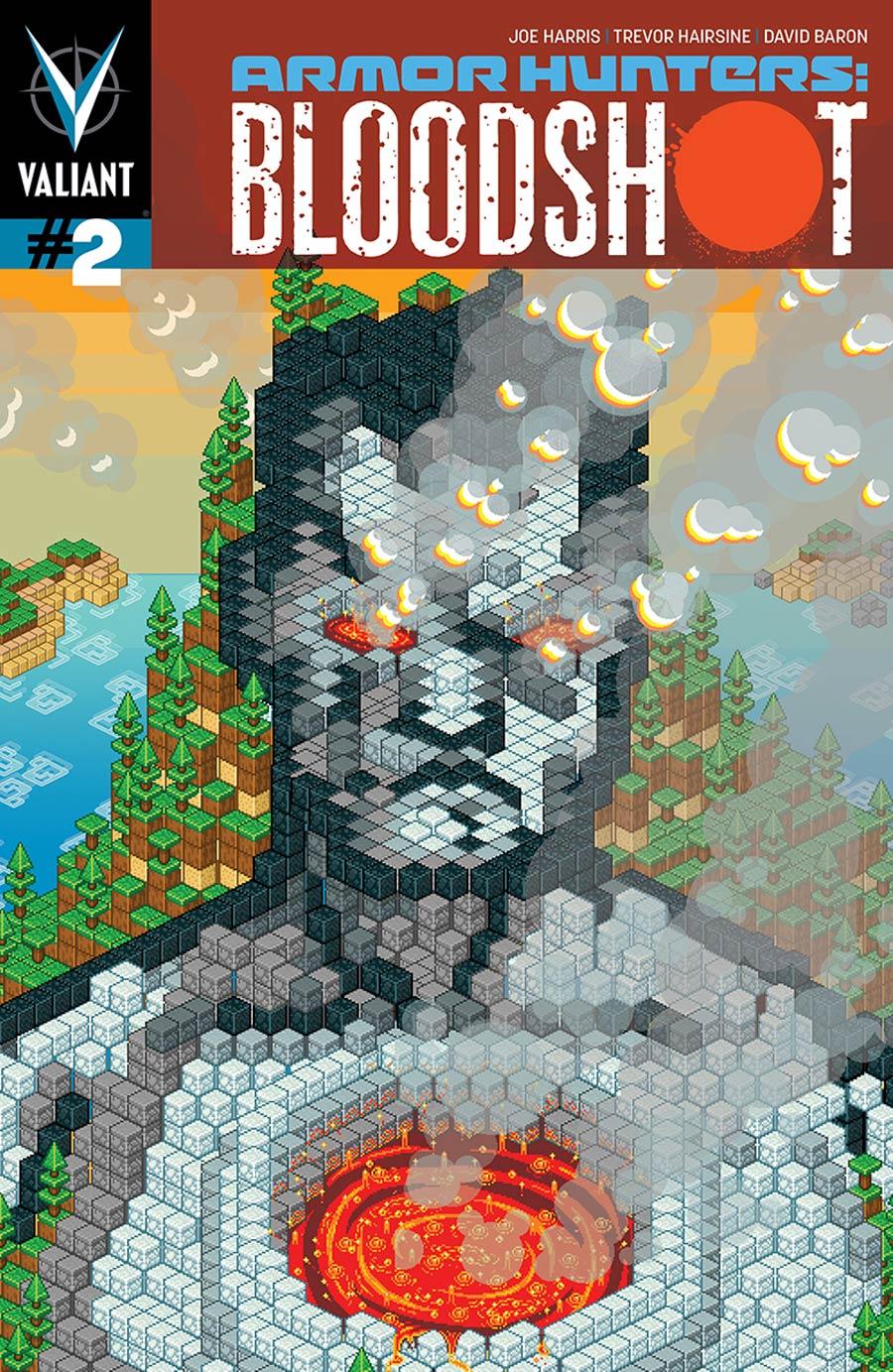 Armor Hunters Bloodshot #2 Cover B Variant Donovan Santiago ValiantCraft Cover (Armor Hunters Tie-In)