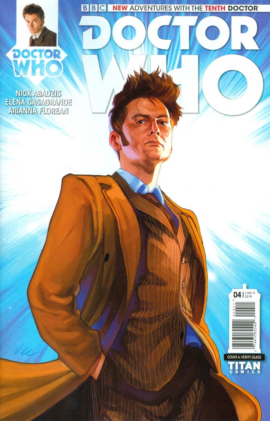 Doctor Who 10th Doctor #4 Cover A Regular Verity Glass Cover