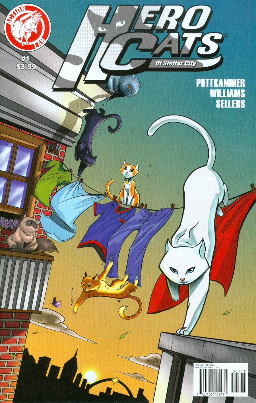 Hero Cats #1 Cover A Regular Marcus Williams Cover