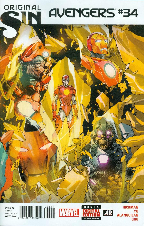 Avengers Vol 5 #34 Cover A Regular Leinil Francis Yu Cover (Original Sin Tie-In)