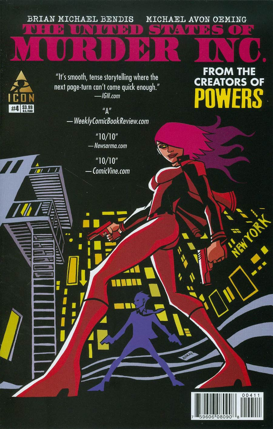 United States Of Murder Inc #4 Cover A Regular Michael Avon Oeming Cover