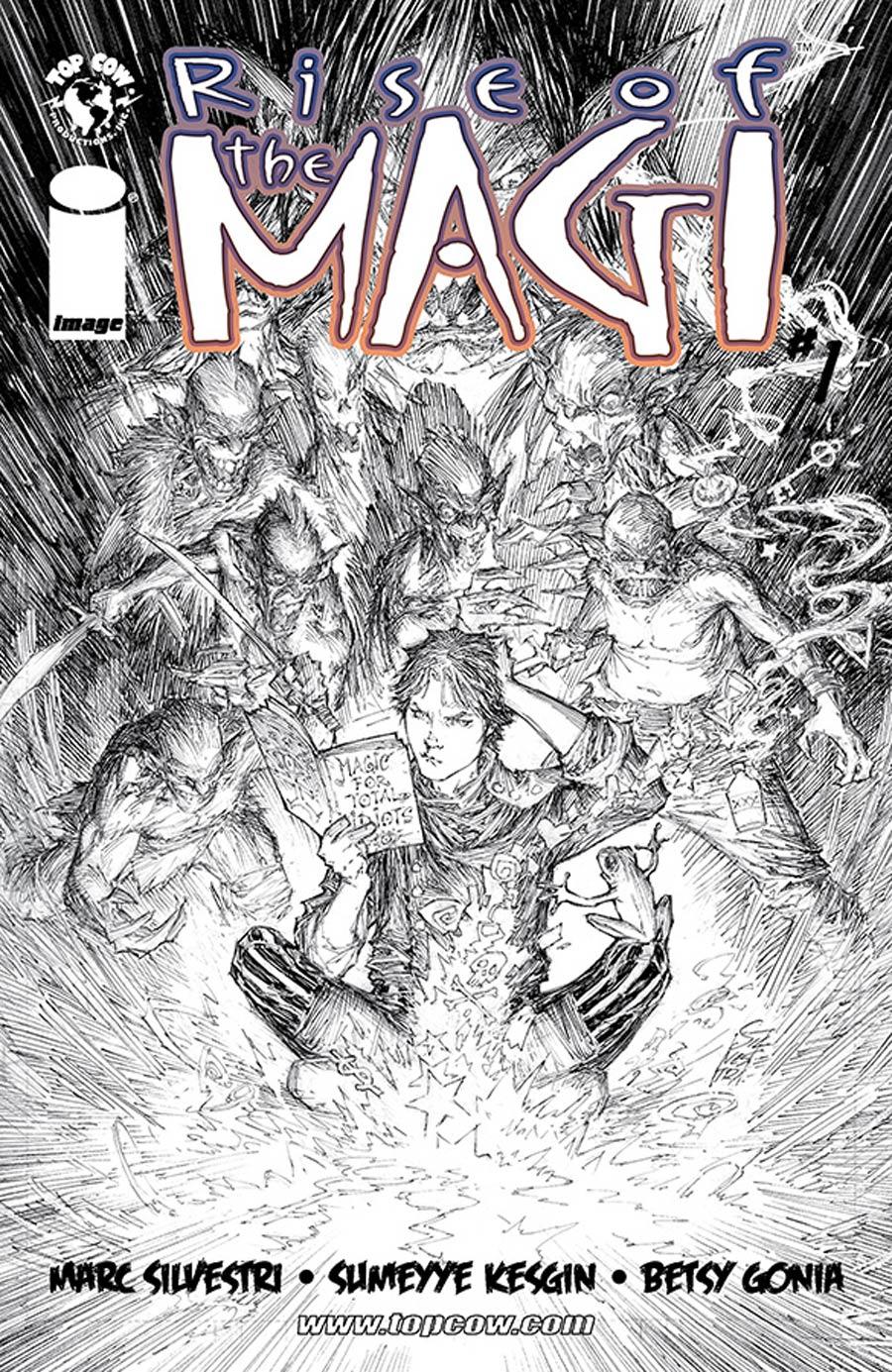 Rise Of The Magi #1 Cover D Incentive Marc Silvestri Black & White Cover
