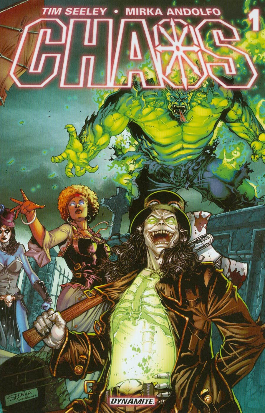 Chaos #1 Cover N Servio Davila Color Steampunk Rare Reorder Cover