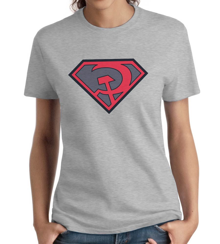 Superman Red Son Symbol Women T-Shirt Large