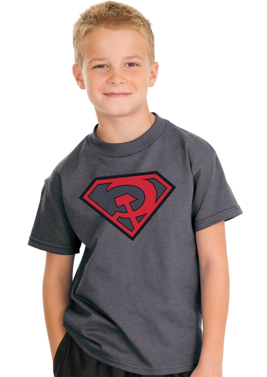 Superman Red Son Symbol Youth T-Shirt Large
