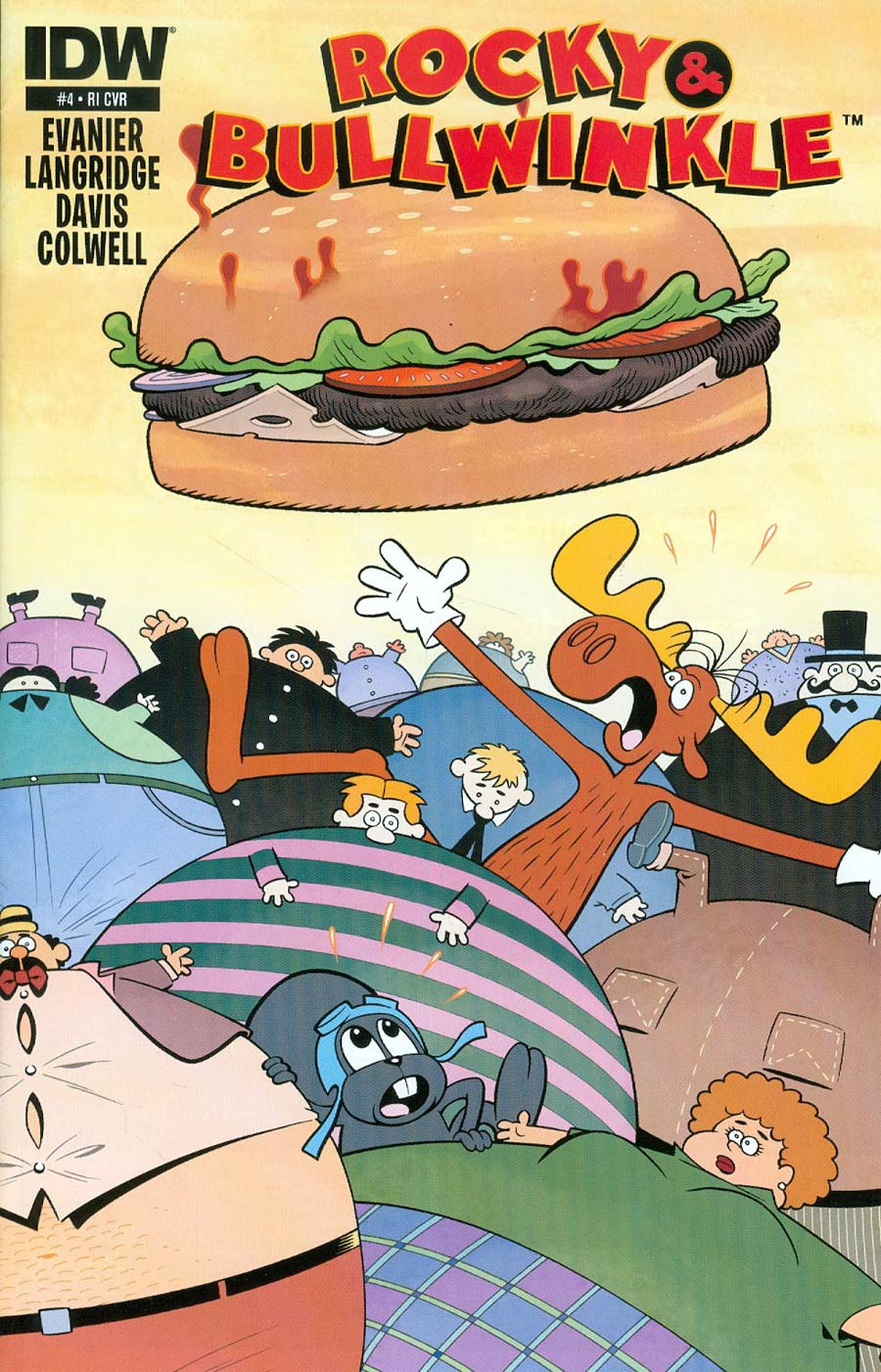 Rocky & Bullwinkle #4 Cover C Incentive Roger Langridge Variant Cover